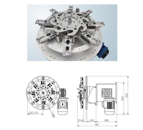 旋转式机械手1_流水线厂家